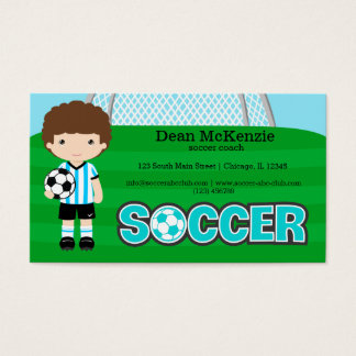Soccer coach/Soccer player Business Card