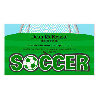 Soccer coach/Soccer player (green) Pack Of Standard Business Cards