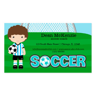 Soccer coach/Soccer player Pack Of Standard Business Cards