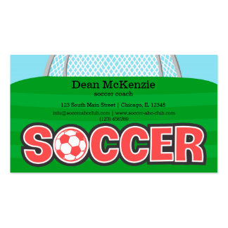 Soccer coach/Soccer player (red) Pack Of Standard Business Cards