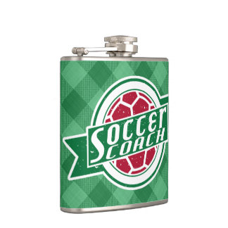 Soccer Coach Stainless Steel Hip Flask