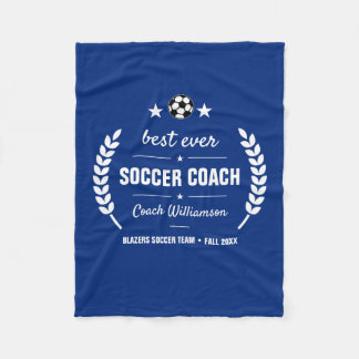 Soccer Coach Thank You Gift From Team Personalized Fleece Blanket