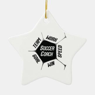 Soccer Coach Thanks Large Ball Ceramic Star Decoration