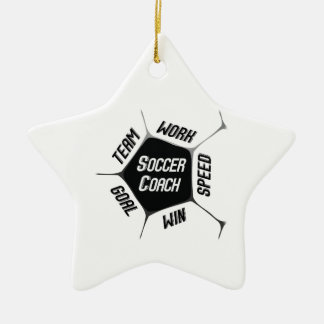 Soccer Coach Thanks Large Ball Christmas Ornament