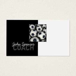 Soccer Coach Trainer Sports Goal Business Card