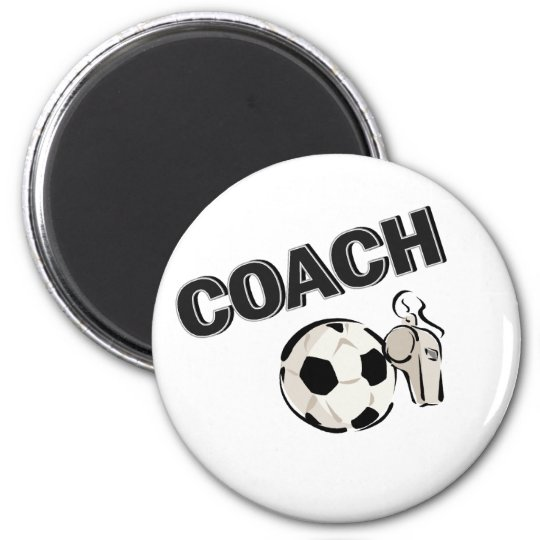Soccer Coach (Whistle/Ball) 6 Cm Round Magnet