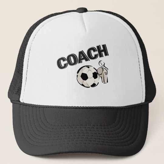 Soccer Coach (Whistle/Ball) Trucker Hat
