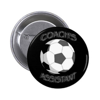 soccer coach's assistant 6 cm round badge