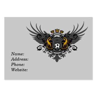 Soccer Coat of Arms Business Card Template