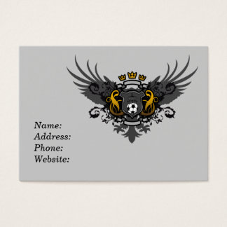 Soccer Coat of Arms Business Card