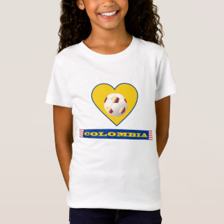 SOCCER COLOMBIA National Team ball and heart T-Shirt