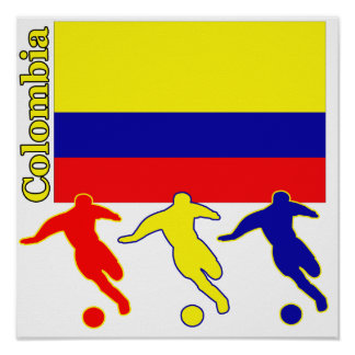 Soccer Colombia Poster