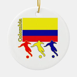 Soccer Colombia Round Ceramic Decoration