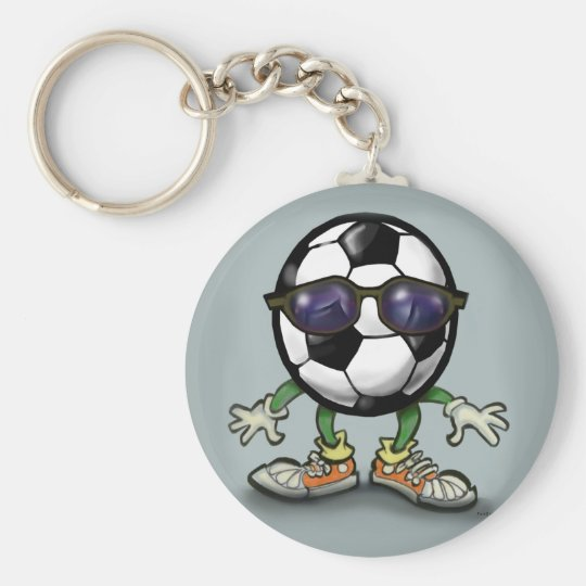 Soccer Cool Basic Round Button Key Ring