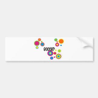 Soccer Cool Polka Dots Bumper Sticker