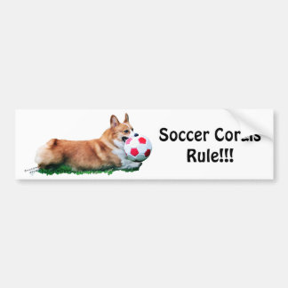 Soccer Corgis ROCK!! Bumper Sticker