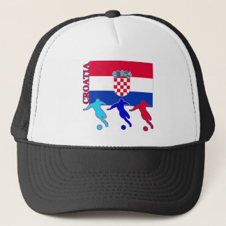 Soccer Croatia Trucker Hat