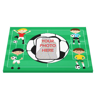 Soccer customizable Photo wrapped canvas print