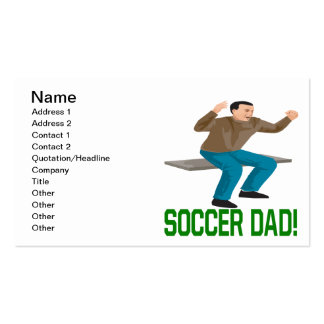 Soccer Dad Double-Sided Standard Business Cards (Pack Of 100)