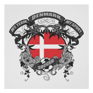 Soccer Denmark Poster
