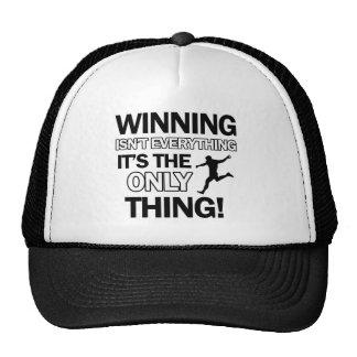 soccer design mesh hats