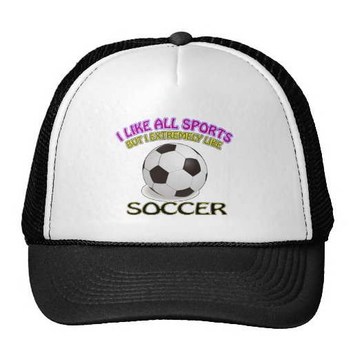 Soccer designs hats