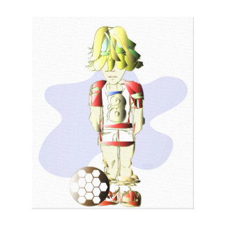 Soccer Digital Art Wrapped Canvas Stretched Canvas Print