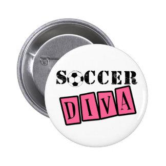Soccer Diva 6 Cm Round Badge