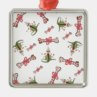 soccer dog red treat 3 christmas ornament