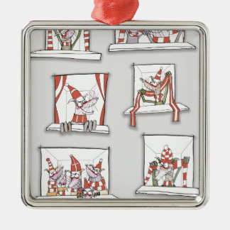 soccer dogs match day reds christmas ornament