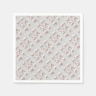 soccer dogs match day reds paper napkin