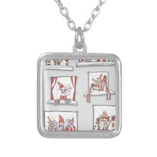 soccer dogs match day reds silver plated necklace