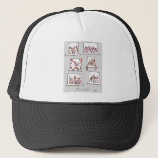 soccer dogs match day reds trucker hat