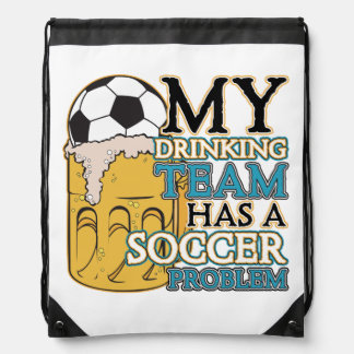 Soccer Drinking Team Drawstring Bag