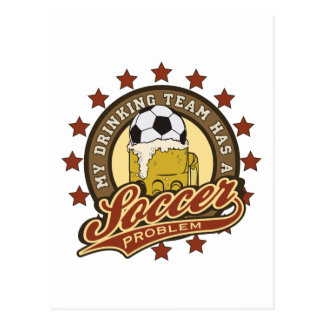 Soccer Drinking Team Postcards