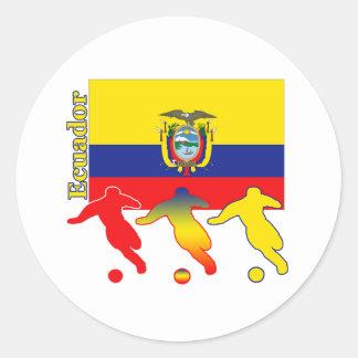 Soccer Ecuador Classic Round Sticker