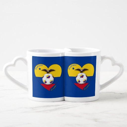 """Soccer """"ECUADOR"""". Ecuadorian National Team Soccer Lovers Mug Sets"""
