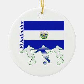 Soccer El Salvador Christmas Ornament