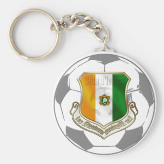 Soccer emblem ivory coast soccer ball gifts keychains