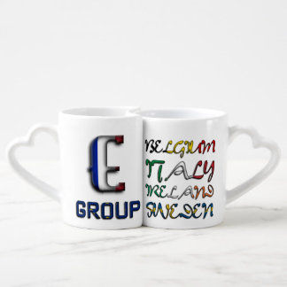 Soccer European Championship Euro 2016 Group E Coffee Mug Set