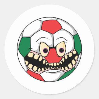 Soccer Evil Ball1 Round Sticker