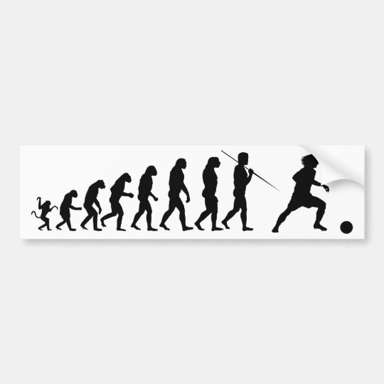 soccer_evolution bumper sticker