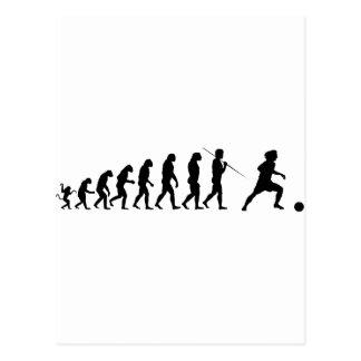 soccer_evolution postcard
