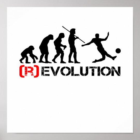 Soccer Evolution / Revolution Chart Poster