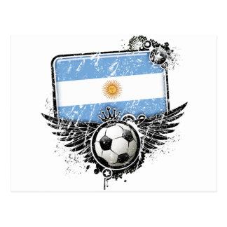Soccer fan Argentina Post Card