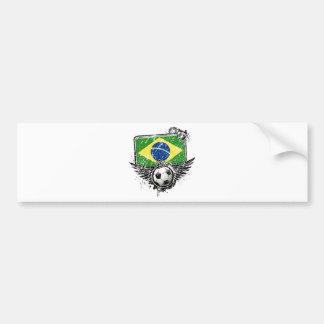 Soccer fan Brazil Bumper Sticker