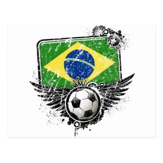 Soccer fan Brazil Postcard