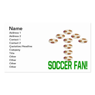 Soccer Fan Double-Sided Standard Business Cards (Pack Of 100)
