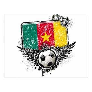 Soccer fan Cameroon Postcard