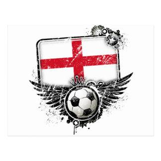 Soccer fan England Postcard
